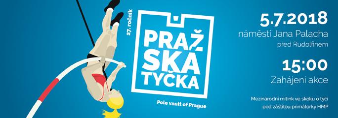 27. ročník | Pražská tyčka - 5.7.2018 - slide 1 - titulní